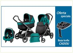 Pachet Promo Carucior 3 in1 Book Plus S Black POP-UP + Baza Isofix Gratuit