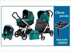 Pachet Promo Carucior 3 in1 Book Plus S Black-White POP-UP + Baza Isofix Gratuit